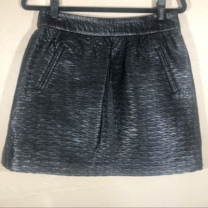 Banana Republic textured faux leather skirt 6